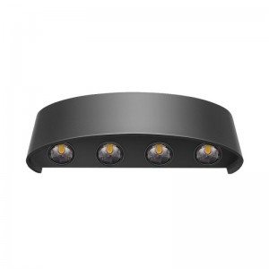 Wall Light COB W3190/4 black IP65 4*3W*2