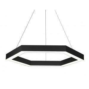 Pendant Linear Hexagon S 600 black 6*600mm 108W