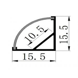 Profile LED LMX-1616,15.5*15.5mm 2m/set