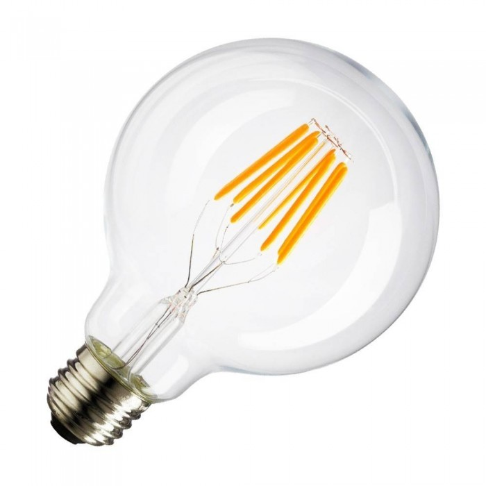 Bec cu filament LED E27 G125