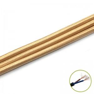Decorativ Cablu 2*0.75mm, olive, m