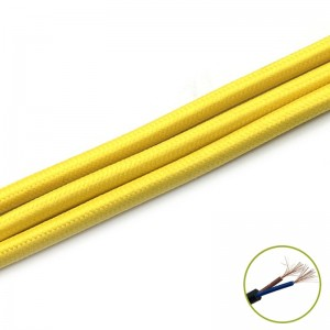 Decorativ Cablu 2*0.75mm, yellow, m
