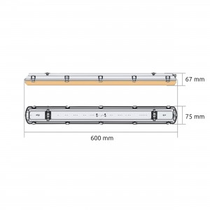 Batten Linear LED lamp YGQ 600MM 24W