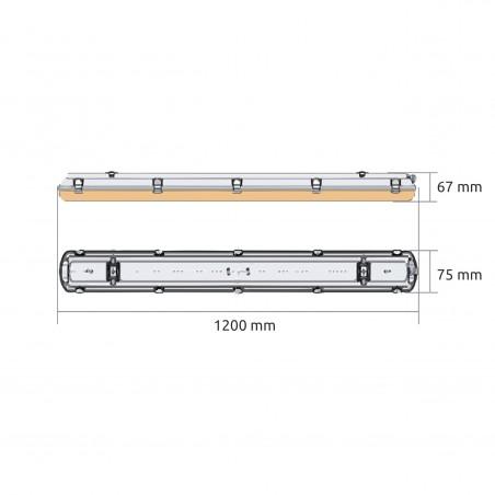 Batten Linear LED lamp YGQ 1200MM 36-48W