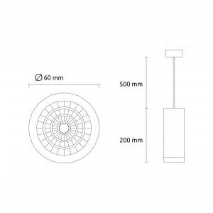 Round Pedant LM PC3003 7 (W) white