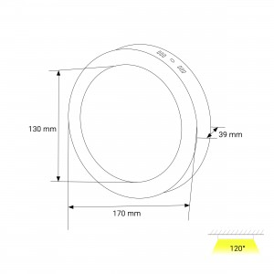 Round Ceiling Panel Surface TS-P0312 (12W)