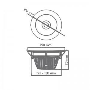 SMART COB Downlight Round LM D2008 20W Black Tuya