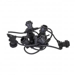 Ghirlanda Festoon LL-FT-02 ,4socket/m,rubber cable,VDE,c25cm,1m