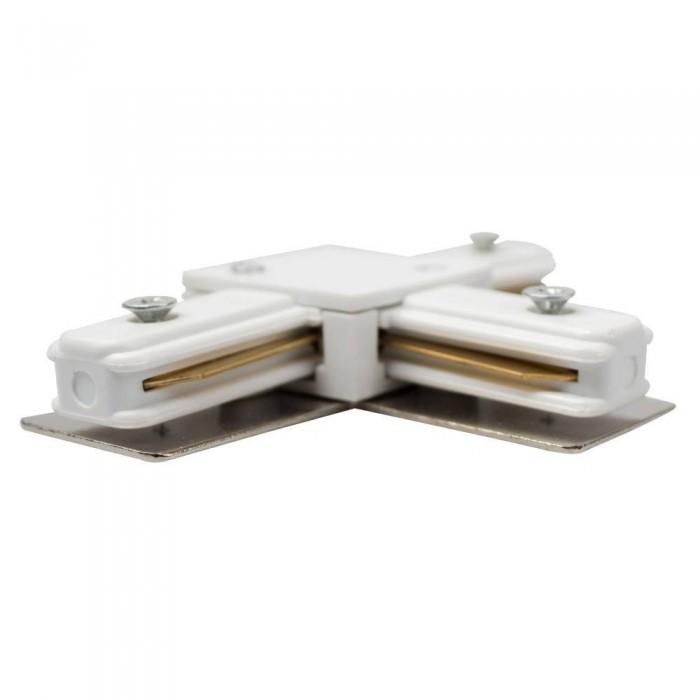 Track line conector 2x90° White