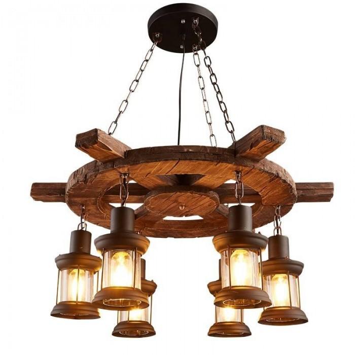 Pendant Wood lamp BK3015-P-6L
