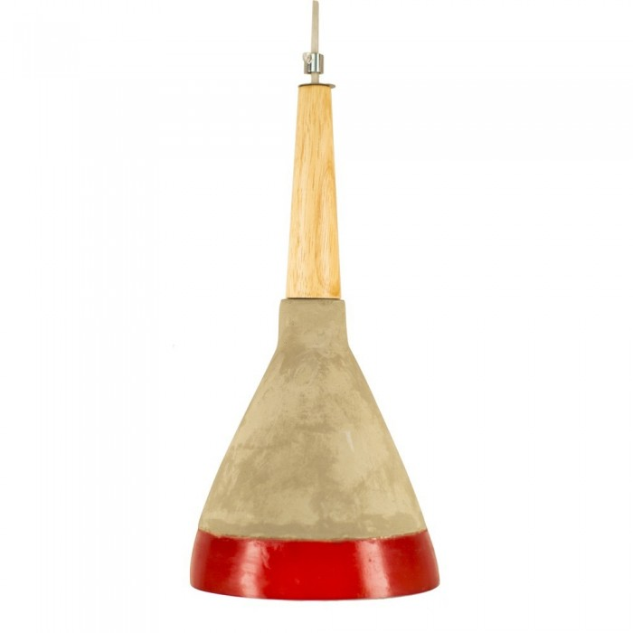 Pendant concret Fitting housing F4267/1 red