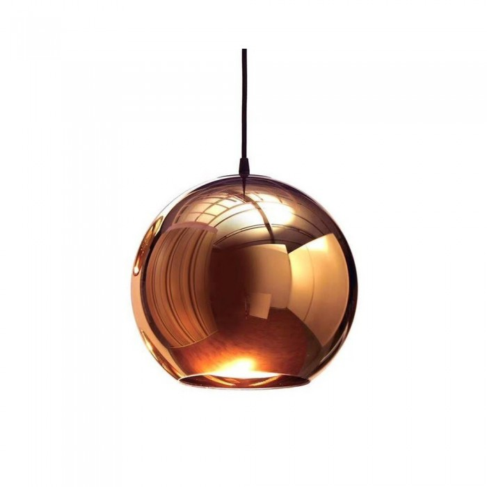Pendant glass Fitting housing F6188/1-200mm rose gold